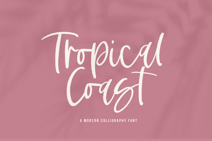 Tropical Coast - A Handwritten Script Font