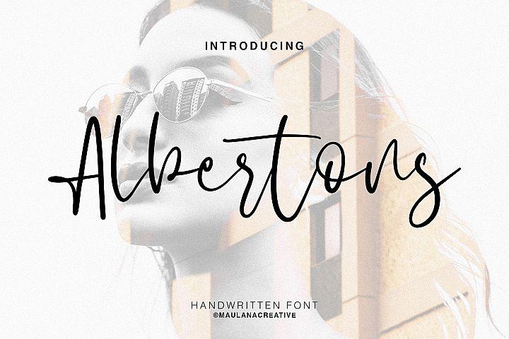 Albertons Script