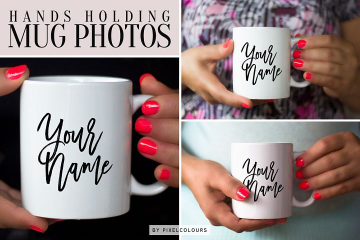 Hands Holding Mug Mockup Bundle