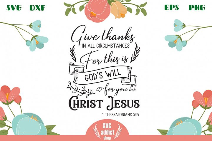 Give Thanks SVG Cut File