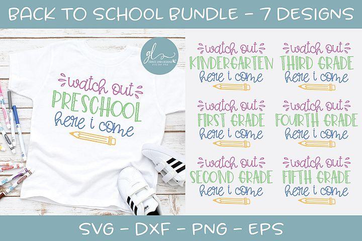 Back To School Bundle - Watch Out School - 7 SVG Cut Files