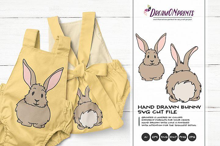 Bunny SVG Cut Files - Bunny Butt SVG - Easter Bunny SVG