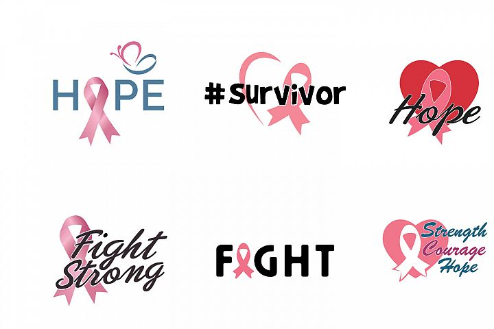 Breast cancer awareness month campaign design bundle .