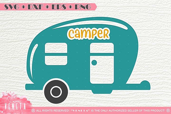 Camper| Caravan | SVG, DXF, EPS, PNG Cutting File