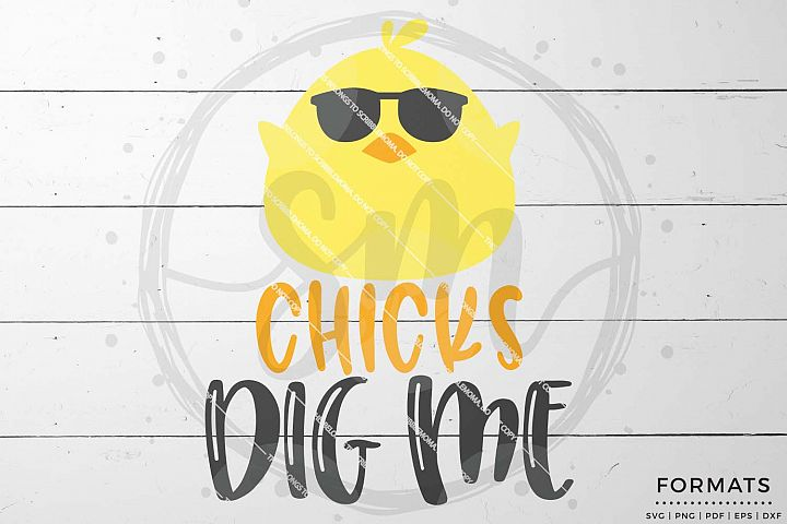 Chicks Dig Me Easter svg Files for Cricut