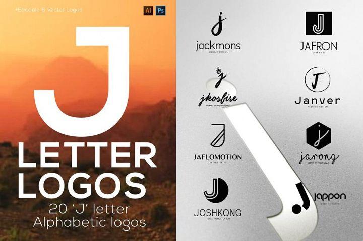 J Letter Alphabetic Logos