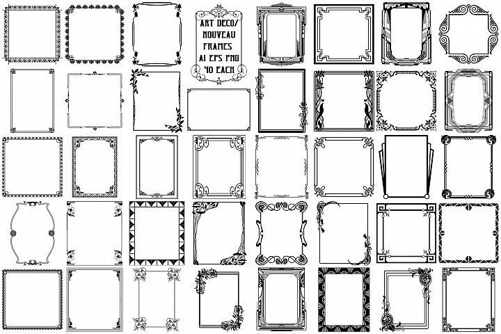 Art Deco/Nouveau Vector Frames AI EPS PNG