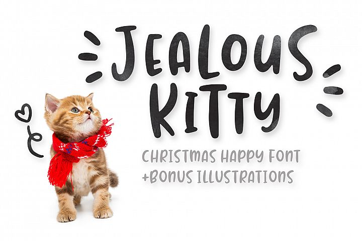 Jealous Kitty - Christmas Happy Font