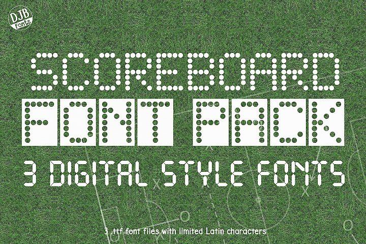 Scoreboard Font Pack