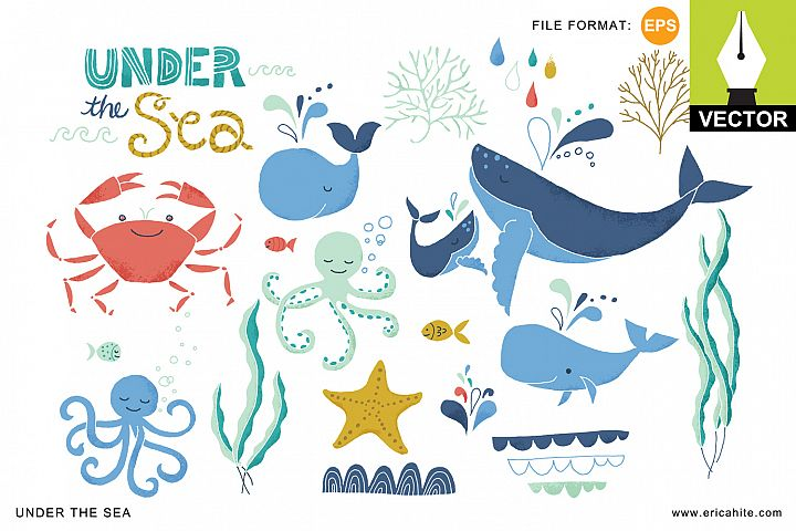 Under the Sea: Vector Art (EPS)