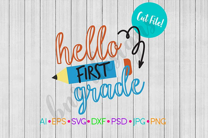 1st Grade SVG, School SVG, Back To School SVG File, DXF