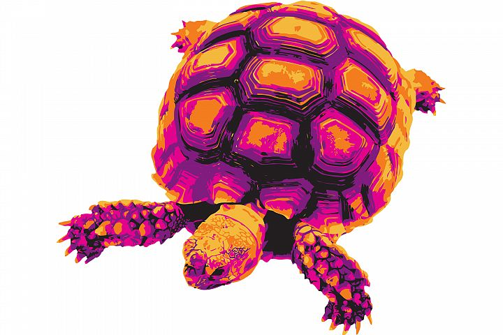 Vectorized Turtle in Halloween colors