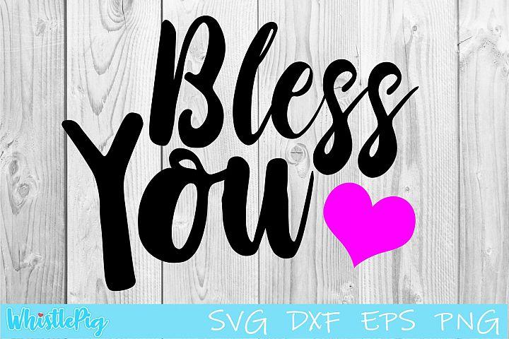 Bless You SVG DXF Mason Jar Tissue Holder SVG