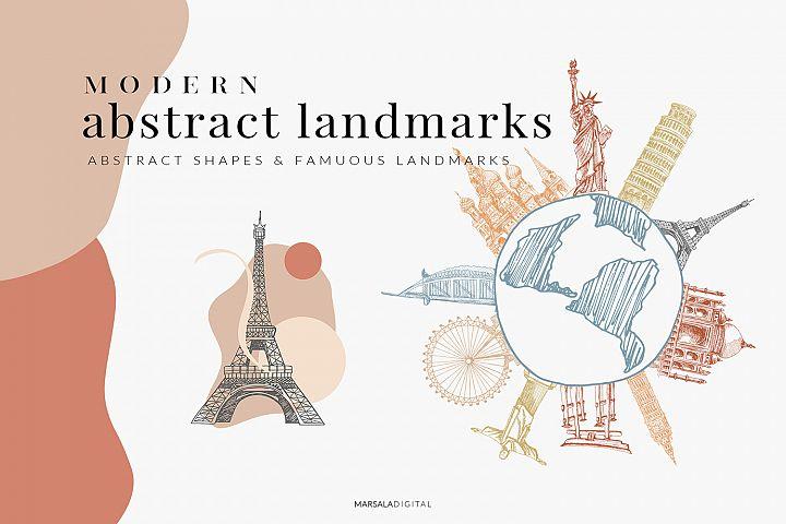 Abstract Shapes & City Landmarks