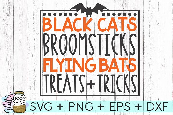 Black Cats Broomsticks SVG DXF PNG EPS Cutting Files