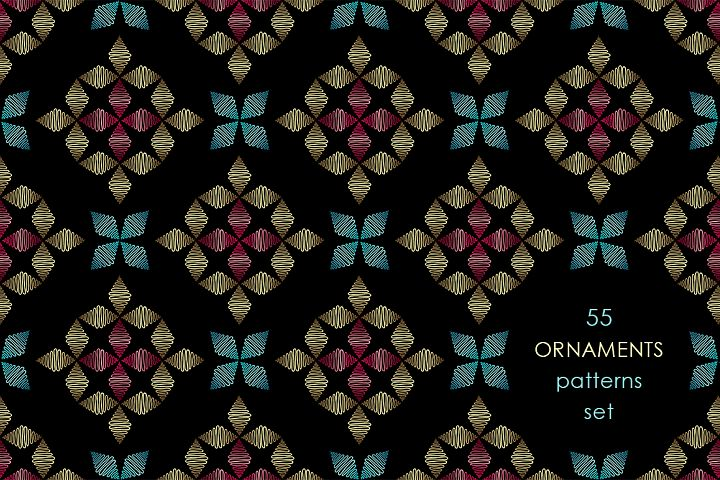 55 ornaments patterns collection