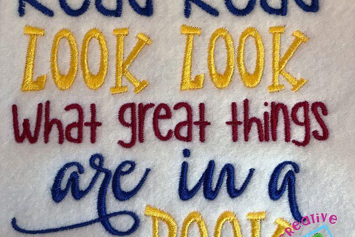 Read Read Look Look Word Art