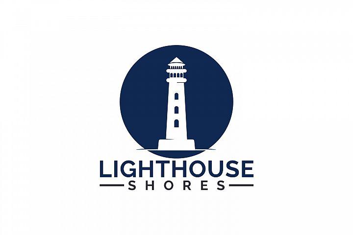 Lighthouse Shores Logo Design.