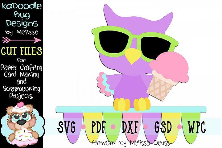 Summer Treat Owl Cut File - SVG PDF DXF GSD WPC