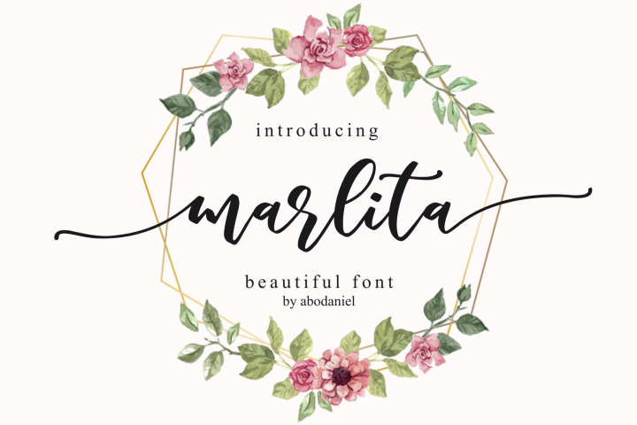 marlita -beautiful font-
