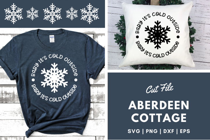 Baby Its Cold Outside SVG Design
