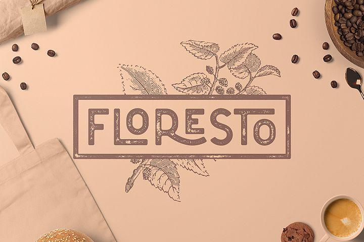 Floresto Textured Vintage Typeface