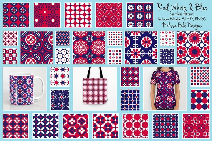 Red, White, & Blue Patterns