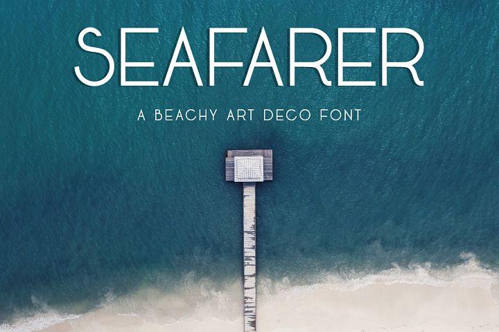 Seafarer | A Beachy Art Deco Font example image 1