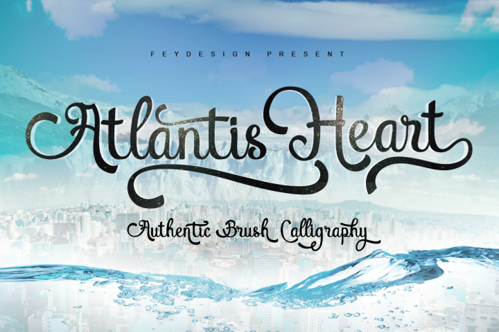 Atlantis Heart - Free Font of The Week Font