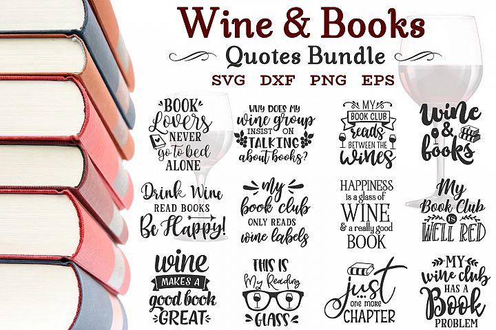 Wine And Books Bundle Svg, Wine Sayings Bundle, Wine Bundle