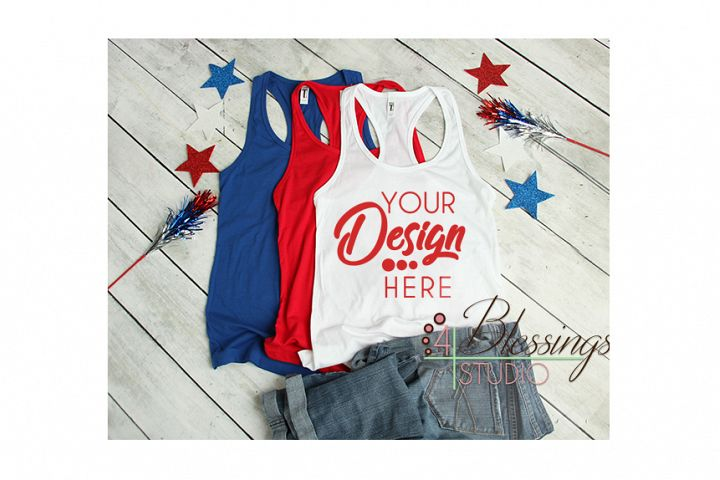 4th of July Mockup Next Level 1533 Mock-up Womens Racerback