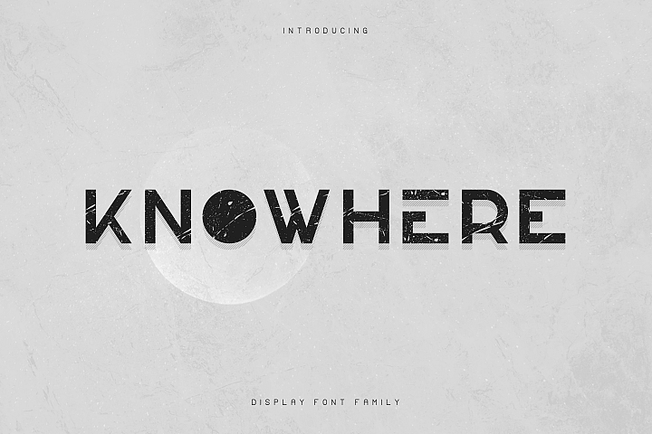 Knowhere - Display font family