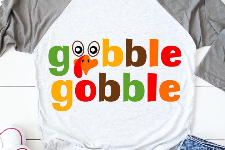 Thanksgiving Svg, Gobble Gobble Shirt Svg, Turkey Day Svg