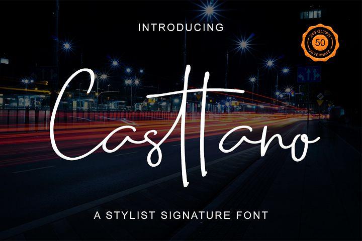 Casttano - Signature Font