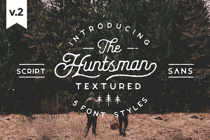 Huntsman Script & Sans Typeface, SemiRounded Roughed Ver.2