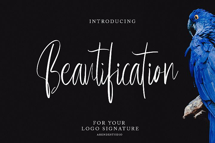 Beautification Signature Font