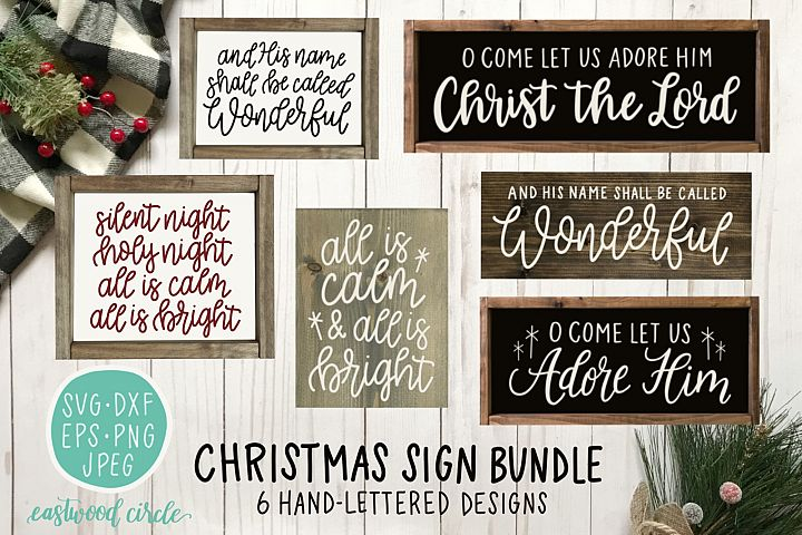 Christmas SVG Bundle - Hand Lettered Cut Files for Signs
