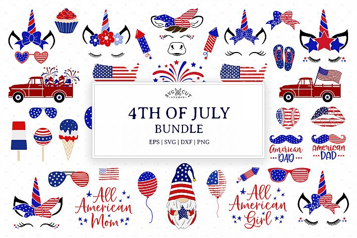 4th of July Bundle SVG Cut Files