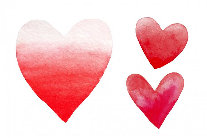 Valentine's Day set of watercolor example image 2