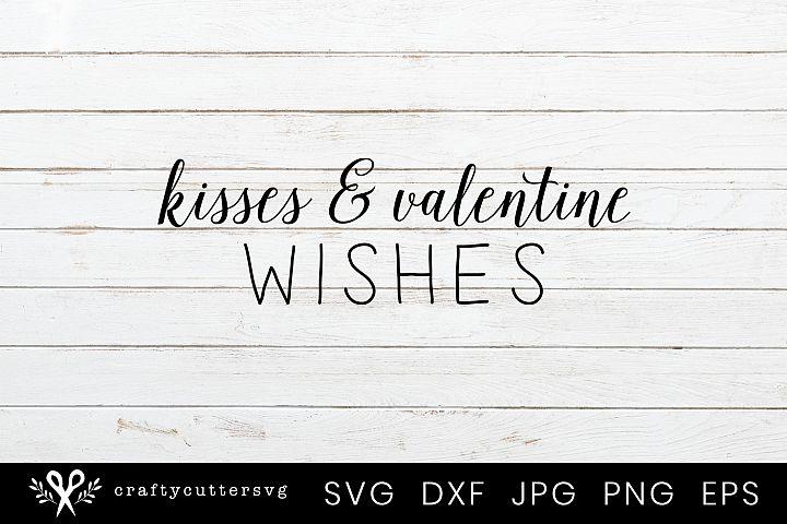 Kisses & Valentine wishes Svg Valentines Day Clipart