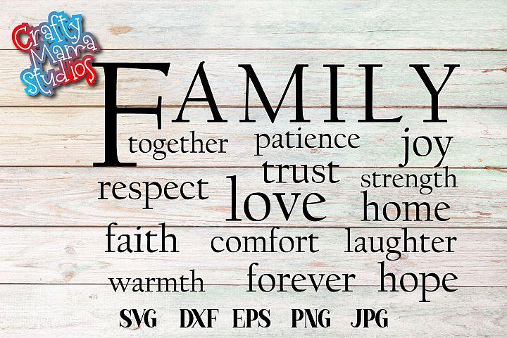 Family Love Strength Hope SVG, Family SVG File