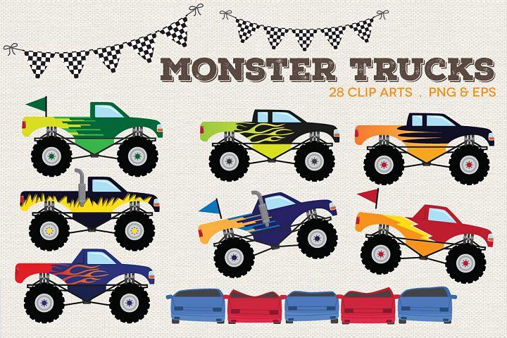 Monster Trucks Clipart