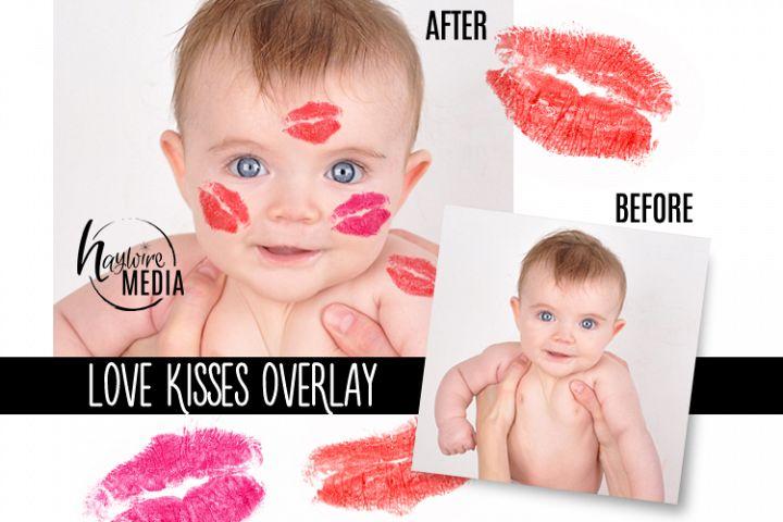 PNG Valentine Lipstick Love Kisses Digital Overlay