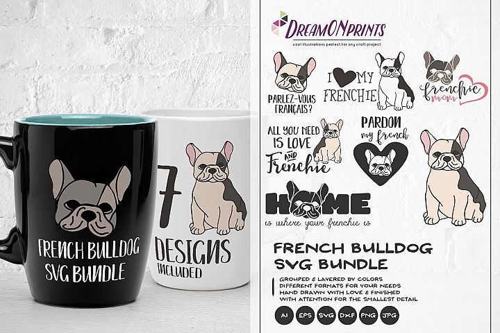 The Frenchie SVG BUNDLE - Vector French Bulldog Bundle SVG