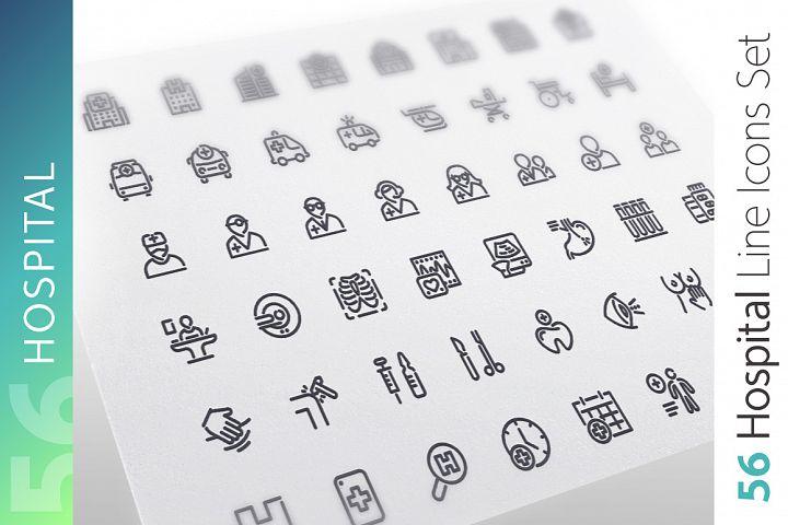 Hospital Line Icons Set
