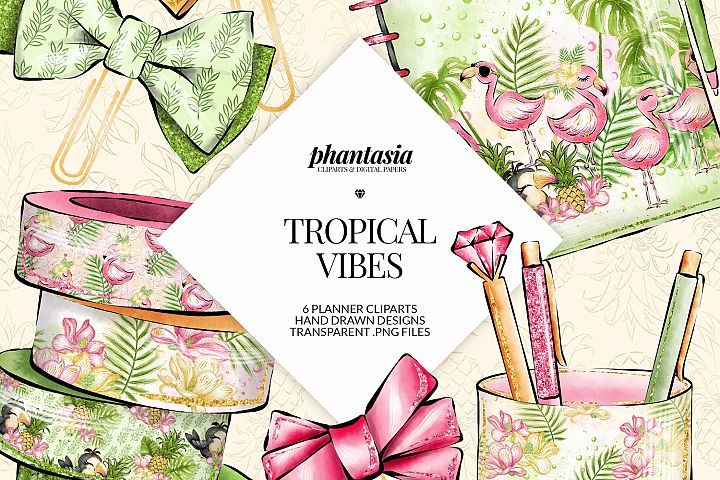 Tropical Planner Cliparts