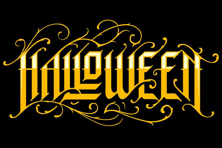 Halloween Gothic Lettering