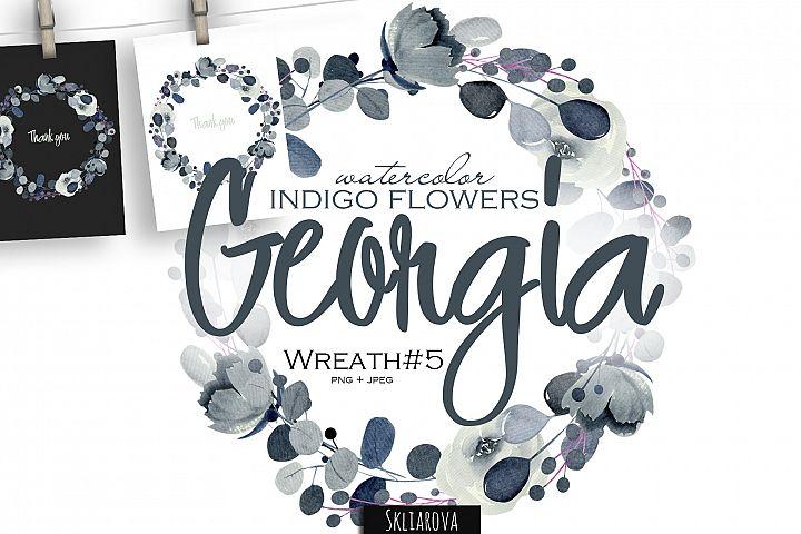 Georgia. Indigo Wreath #5