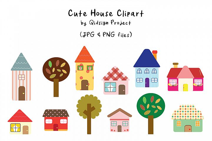Cute House Clipart PNG
