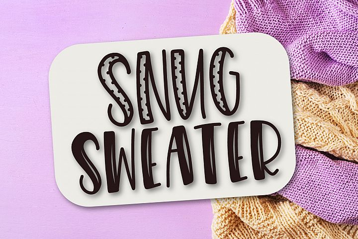 Snug Sweater - A Mixed Style Font Duo